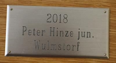 Fotoalbum Anbringen der Schilder an den Ehrentafeln 2019
