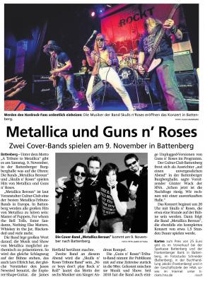 Fotoalbum A Tribute to Metallica & Guns 'n Roses am 09.11.2019