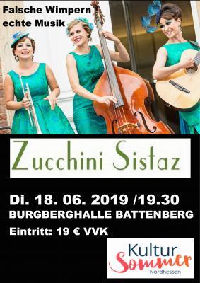 Fotoalbum Die Zuccini Sisters am 18.06.22019 Burgberghalle