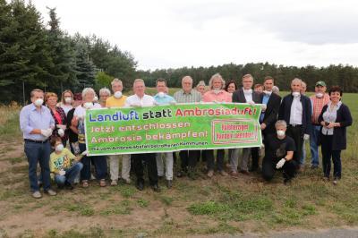 Fotoalbum Kolkwitz appelliert an Land Ambrosia zu bekämpfen
