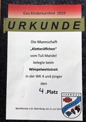 Fotoalbum Gau Kinderturnfest Bad Münster