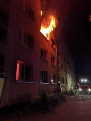 Fotoalbum Feuer Wohnungsbrand Grünstraße