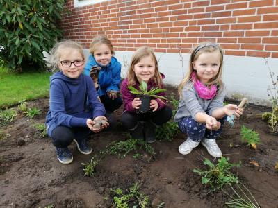 Fotoalbum Betreute Grundschule - Pflanzaktion