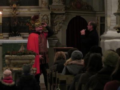 Fotoalbum Martinstag - nach dem Laternenumzug in der Kirche