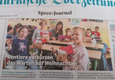 Fotoalbum Bundesweiter Vorlesetag an der Sigmund-Jähn-Grundschule