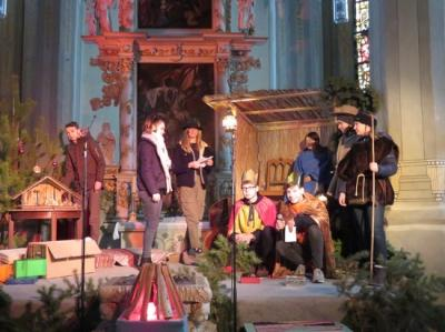 Fotoalbum Proben für das Krippenspiel am Heiligen Abend