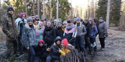 Fotoalbum Klassenfahrt ins Jugendwaldheim 2019