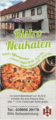 Fotoalbum Flyer Bistro Neukalen