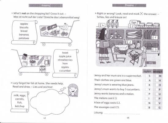Fotoalbum Bilder zu Aufgaben Englisch Klasse 4