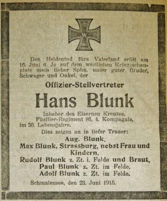 Fotoalbum Hans Blunk