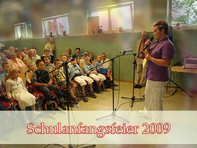 Fotoalbum Schulanfangsfeier 2009