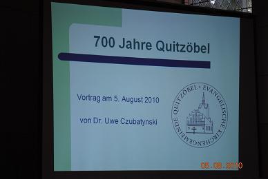Fotoalbum Jubilaümsfeier begann in der Dorfkirche