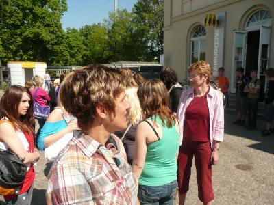 Fotoalbum Geschichtsprojekt der 9. Klassen im  KZ Sachsenhausen
