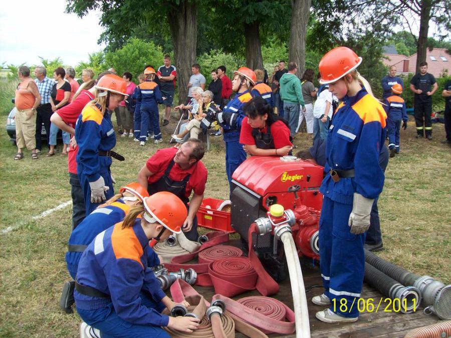 JFW Team Worin beim Wettbewerb in Alt Mahlisch 18.06.11