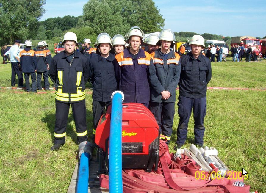 Team der FF Niederjesar  in Lietzen am 06.06.09