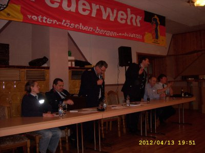 Fotoalbum Jahreshauptversammlung der Freiwilligen Feuerwehr der Gemeinde Rhönblick