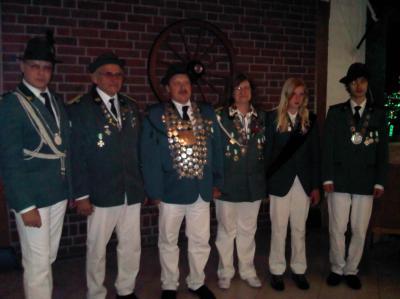 Fotoalbum Hofstaat des Schützen-Corps Neuenkirchen Schützenfest  2011 und 2012