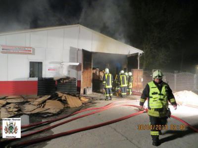 Fotoalbum Feuer Lagerhalle Oranienburg Südweg