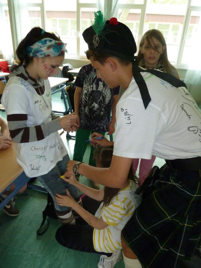 Gemeinde Plattenburg  Abschluss Klasse 10 mit Mottowoche