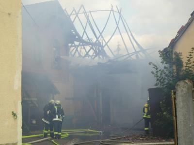 Fotoalbum Scheunenbrand Am Gottesacker in Oberwerrn