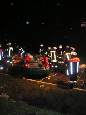 Fotoalbum Verkehrsunfall zwischen Obbach und Euerbach