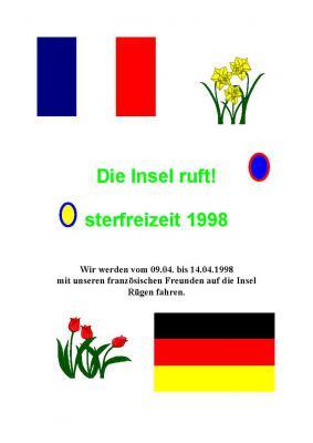 Fotoalbum 1998 Begenung mit Gästen aus La Couranne auf Rügen