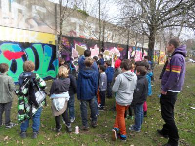 Fotoalbum Kulturrucksack Graffitiprojekt am Ostern