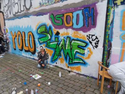Fotoalbum Kulturrucksack Graffitiprojekt: Herbst Vertiefungsworkshop