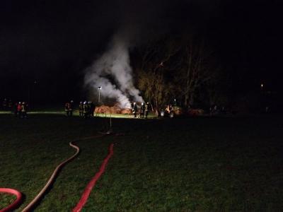 Fotoalbum Brandeinsatz der FFw Rhönblick in der Nacht vom 22./23.03.2014 in Helmershausen