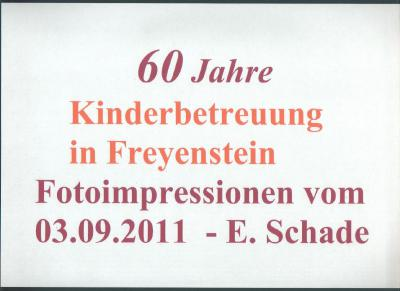 Fotoalbum 60 Jahre Kinderbetreuung in Freyenstein