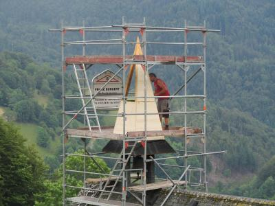 Fotoalbum Sanierung des Glockenturms der Friedhofskapelle