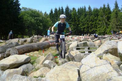 Fotoalbum Fahrradtrial-Hessenmeisterschaft in Schotten auf dem Taufstein Vogelsberg.