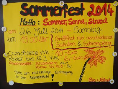 Fotoalbum Sommerfest 2014