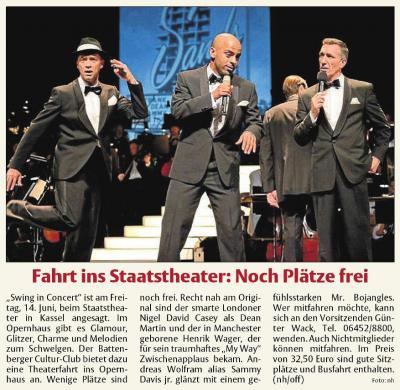 Fotoalbum Fahrt Swing in Concert - Staatstheater Kassel