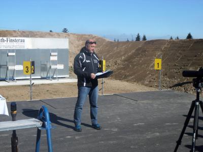 Fotoalbum Einweihung Biathlon Schießanlage bei der Rollerstrecke