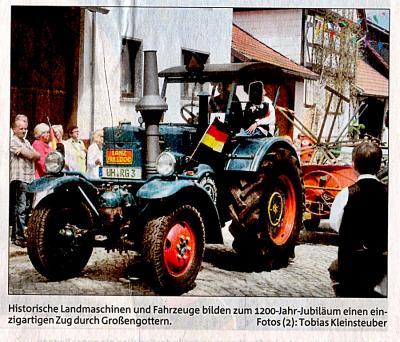 Fotoalbum 1200 Jahre Großengottern Das Jubiläum im Spiegel der Presse