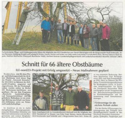 Fotoalbum Netzwerk Streuobst Bayerischer Vorwald: Aktion 2013/14 wird mit Erstpflegeschnitt abgeschlossen