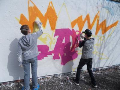 Fotoalbum Graffiti Einführungsworkshop