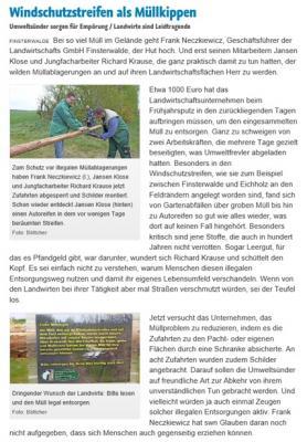 Fotoalbum Illegale Müllentsorgung