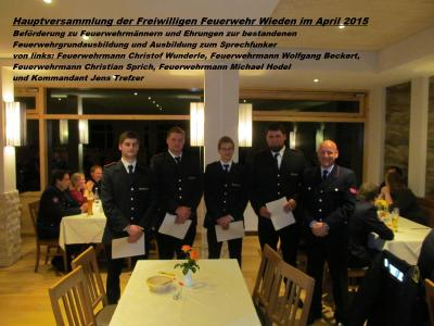 Fotoalbum Bilder aus der Generalversammlung der Freiw. Feuerwehr Wieden