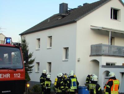 Fotoalbum Brandeinsatz - In der Wiese