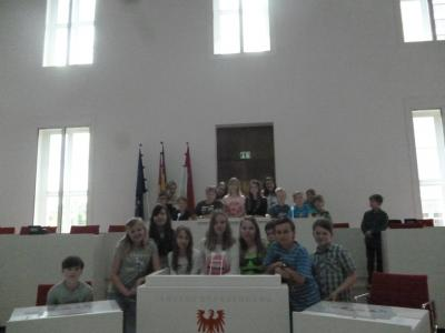Fotoalbum Besuch im Landtag Potsdam