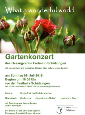 Fotoalbum Gartenkonzert