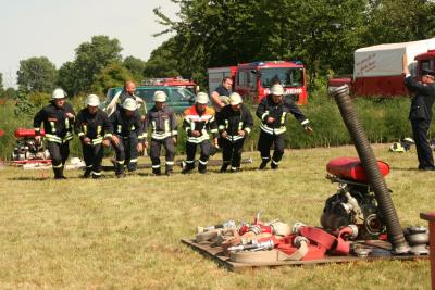 Fotoalbum Amtsausscheid der Feuerwehren des Amtes Burg (Spreewald) am 1. August 2015