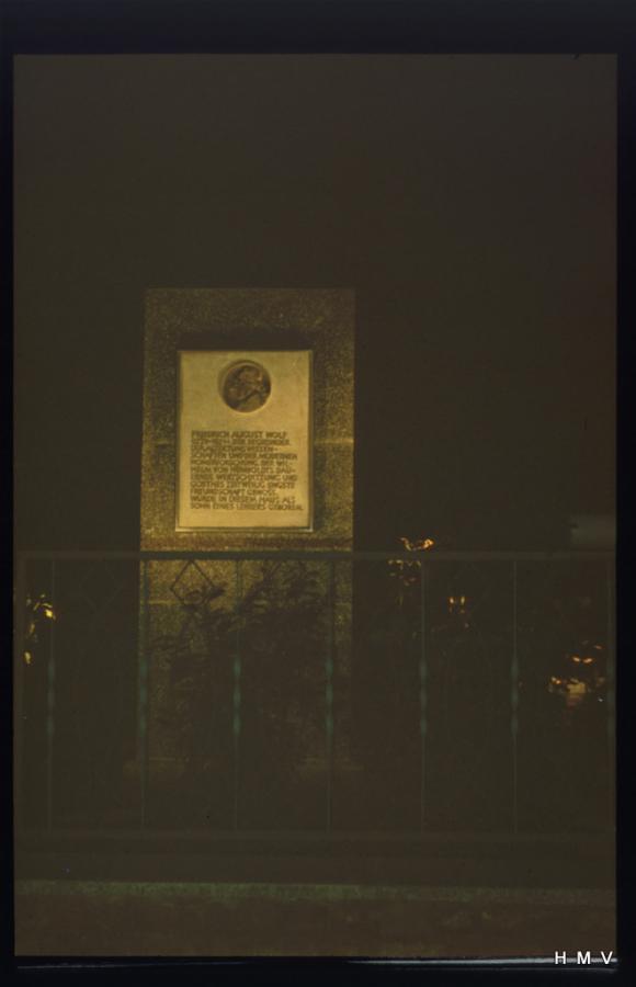 Heimat- und Museumsverein Hainrode/Hainleite - Denkmal F A Wolf