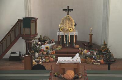 Fotoalbum Erntedankfest in der evang. Kirche Elster