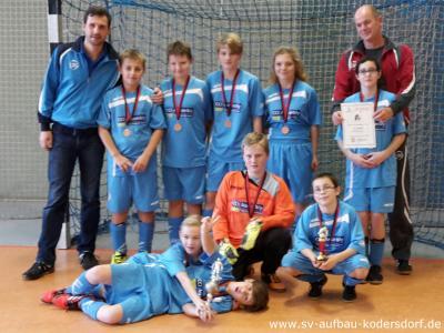 Fotoalbum D-Junioren: Bronze Stahlbullenturnier des FC Stahl Rietschen 19.12.2015