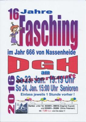 Fotoalbum Nachmittagsfasching in Nassenheide