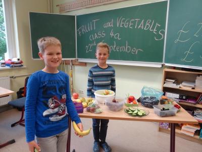 """Fotoalbum Projekt Englisch """"Fruit and Vegetable"""""""