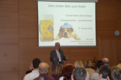 Fotoalbum Vom ersten Bier zum Kater - Vortrag Prof. Dr. Roth